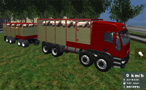 Iveco EuroStar + Trailer For Sheep